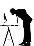 De mens van het silhouet gegevensverwerking royalty-vrije stock foto