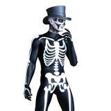De mens van het skeletkostuum Royalty-vrije Stock Afbeelding