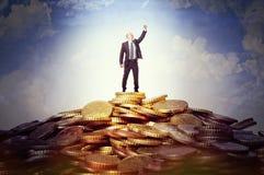 De mens van het succes Stock Afbeeldingen