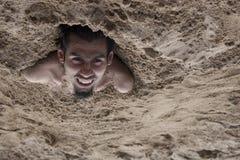 De mens van het zand Stock Afbeeldingen