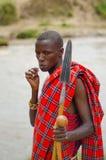 De Mens van Maasai stock afbeelding