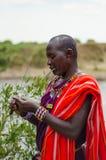 De Mens van Maasai royalty-vrije stock foto