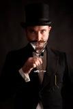 De mens van martini Stock Fotografie