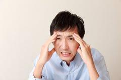 De mens van Panicking Stock Afbeelding