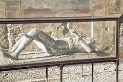 De Mens van Pompei Stock Fotografie