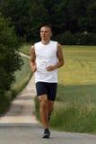 De mens van Runing #2 Stock Foto's