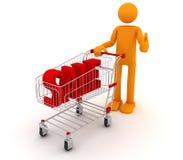 De Mens van Shoping Royalty-vrije Stock Afbeeldingen