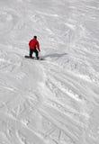 De mens van Snowboard Stock Afbeeldingen