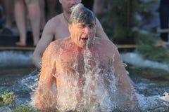 De mens zwemt Stock Afbeelding
