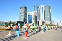 De Menselijke Energie van Astanaart fest 2016 voor Expo 2017 in Astana Stock Fotografie