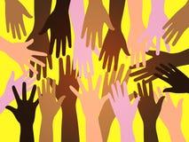 De menselijke handen van de menigte Royalty-vrije Stock Afbeeldingen