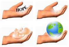 De menselijke Holding van de Hand stelt stock illustratie
