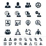 De menselijke pictogrammen van het middelbeheer stock illustratie