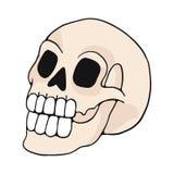 De menselijke reeks van het de illustratiemotief van het schedelbeeldverhaal royalty-vrije illustratie
