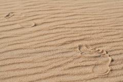 De menselijke voet op het zand Royalty-vrije Stock Fotografie