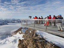 De mensen bewonderen het landschap Royalty-vrije Stock Foto
