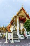 De mensen bezoeken Tempel-gebied Phra Maha Stock Foto's
