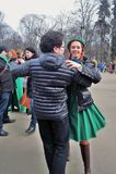 De mensen dansen Ierse dansen royalty-vrije stock foto