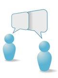 De mensen delen communicatie toespraakbellen Stock Fotografie