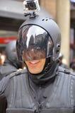 De mensen dragen als robot Royalty-vrije Stock Foto