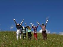 De mensen genieten van de lente Royalty-vrije Stock Foto