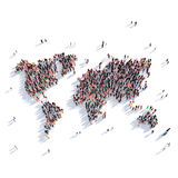De mensen groeperen de Wereld van de vormkaart Royalty-vrije Stock Afbeelding