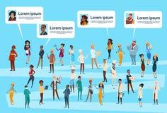 De mensen groeperen Verschillend Beroep, Sociaal het Netwerkprofiel van Werknemersarbeiders vector illustratie