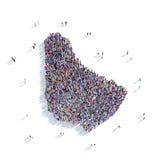 De mensen groeperen vormkaart Barbados Stock Afbeeldingen