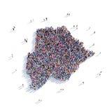 De mensen groeperen vormkaart Botswana Stock Afbeeldingen