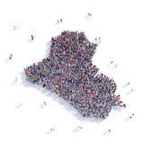 De mensen groeperen vormkaart Irak Stock Fotografie