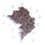 De mensen groeperen vormkaart Nagorny Karabach Royalty-vrije Stock Fotografie