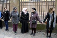 De mensen ketenen voor Joden in Denemarken Royalty-vrije Stock Foto's