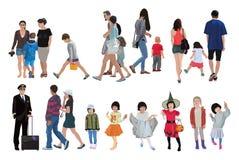 De mensen kleuren vectorillustratie Royalty-vrije Stock Foto