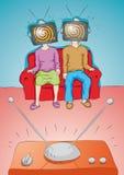 De mensen letten op TV royalty-vrije illustratie