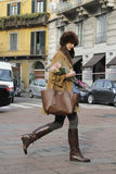 De mensen in Milaan vormen week Royalty-vrije Stock Afbeeldingen