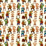 De mensen naadloos patroon van de avonturier Royalty-vrije Stock Foto