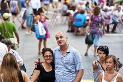 De mensen nemen af en toe foto'svierkant Stock Afbeeldingen