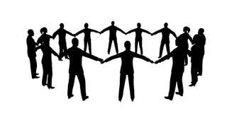 De mensen omcirkelen mannelijk wijfje stock illustratie