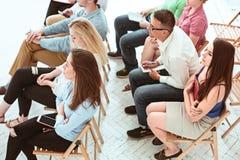 De mensen op Commerciële Vergadering in de conferentiezaal royalty-vrije stock foto