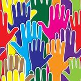 De mensen overhandigen als hart verenigde naadloze achtergrond. Royalty-vrije Stock Fotografie