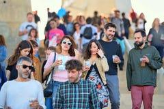 De mensen in Primavera klinken het Festival van 2014 (PS14) Royalty-vrije Stock Foto's