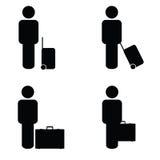 De mensen reizen pictogramart. Royalty-vrije Stock Foto