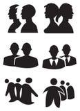 De mensen silhouetteren Ontwerp Vectorillustratie royalty-vrije illustratie