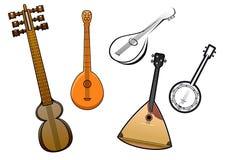 De mensen stringed de muzikale elementen van het instrumentenontwerp Royalty-vrije Stock Fotografie