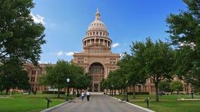 De mensen in Texas verklaren capitol in Austin Royalty-vrije Stock Foto