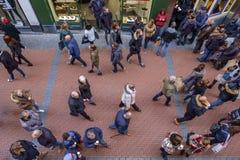 De mensen van Amsterdam Nieuwendijk Royalty-vrije Stock Foto