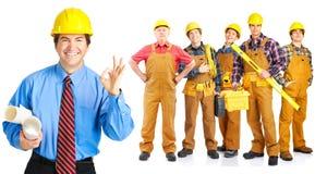 De mensen van contractanten Stock Foto's