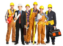 De mensen van de bouwer Royalty-vrije Stock Afbeeldingen
