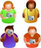 De mensen van de camera Stock Afbeeldingen
