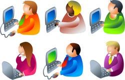 De mensen van de computer stock illustratie